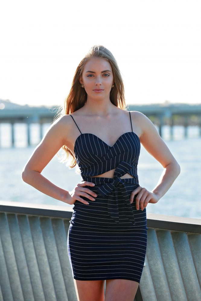 Out Of The Blue Dress - Stripe