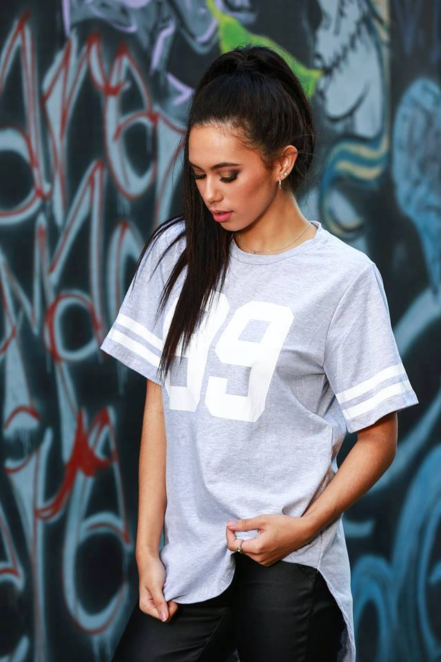 Hustle Jersey Tees grey