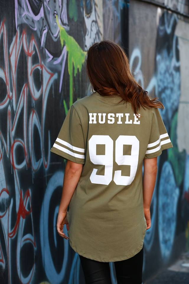 Hustle Jersey Tee back
