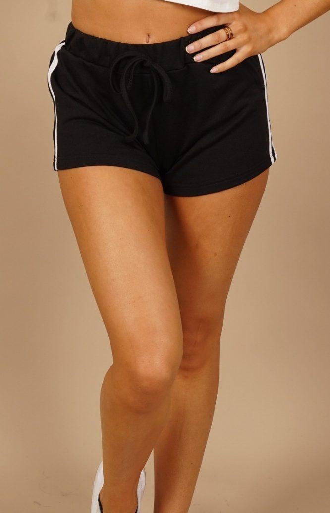 Retro Sport Shorts black front