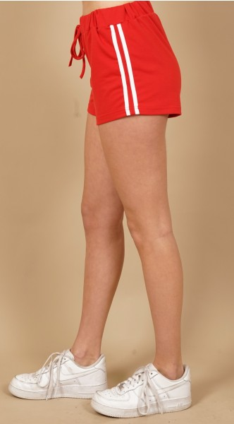 Retro Sport Shorts red 2