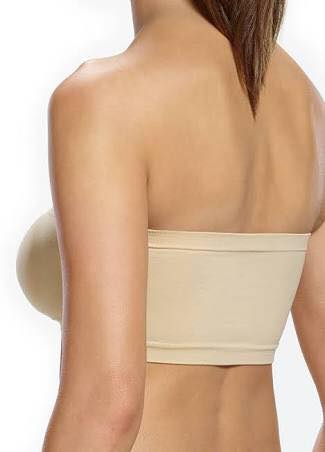 Seamless padded boob tube bras- 3 colours