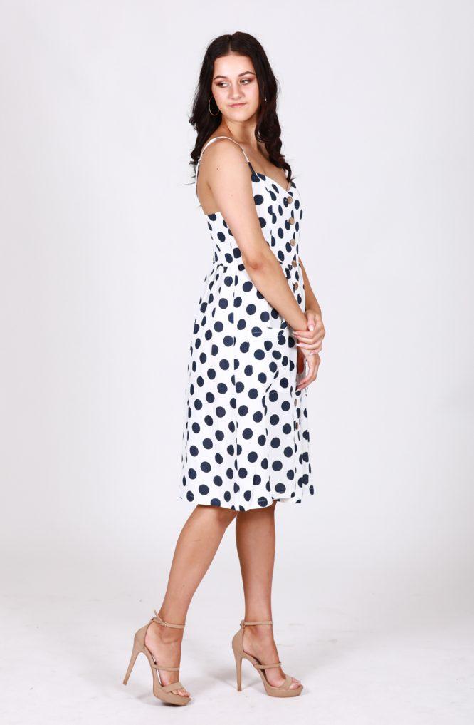 Leah Polka Dot Button Through DressDs