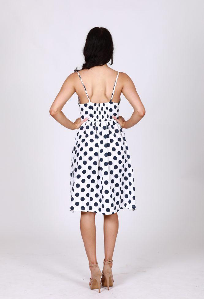 Leah Polka Dot Button Through Dress db