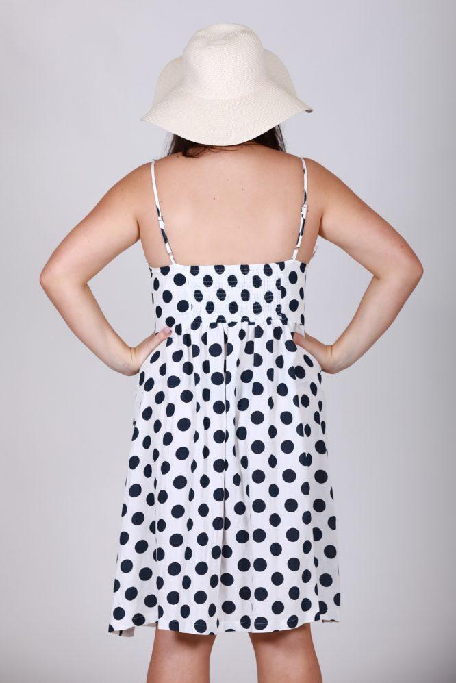 Leah Polka Dot Button Through Dress LB