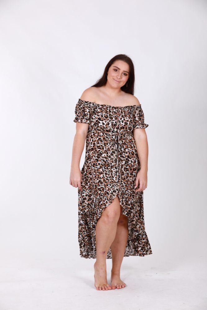 Safari Off The Shoulder Dress l f