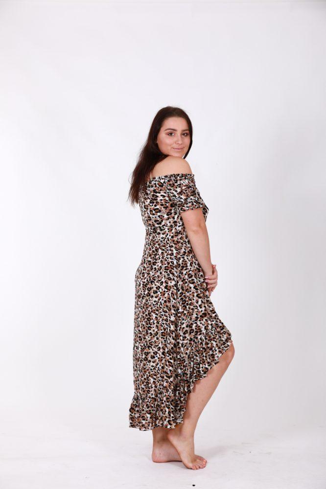 Safari Off The Shoulder Dress ls