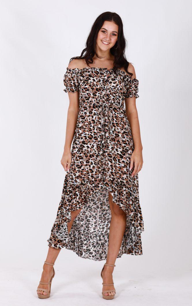 Safari Off The Shoulder Dress df