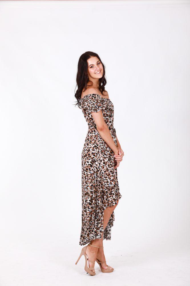 Safari Off The Shoulder Dress ds
