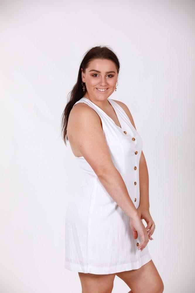 Saskia White Linen Dress bs