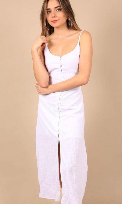 Rachel Linen Maxi Dress 3