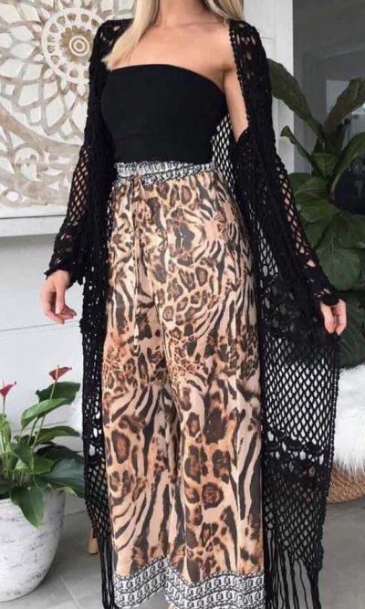 Cassidy Crochet Cape - Black