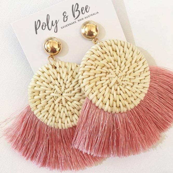 What's not to love about handmade? Our friends at Pollyand Bee have been bust making theRattan Weave Fan Tassel Earrings. 2