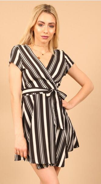 Wrap Monochrome Print Dress