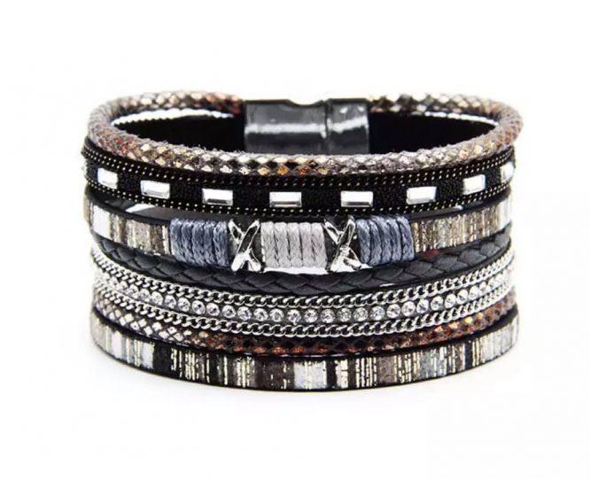 Coachella Cuff Bracelet pewter