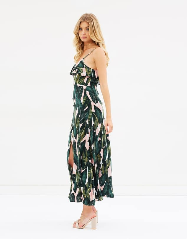 Savannah Leaf Print Maxi