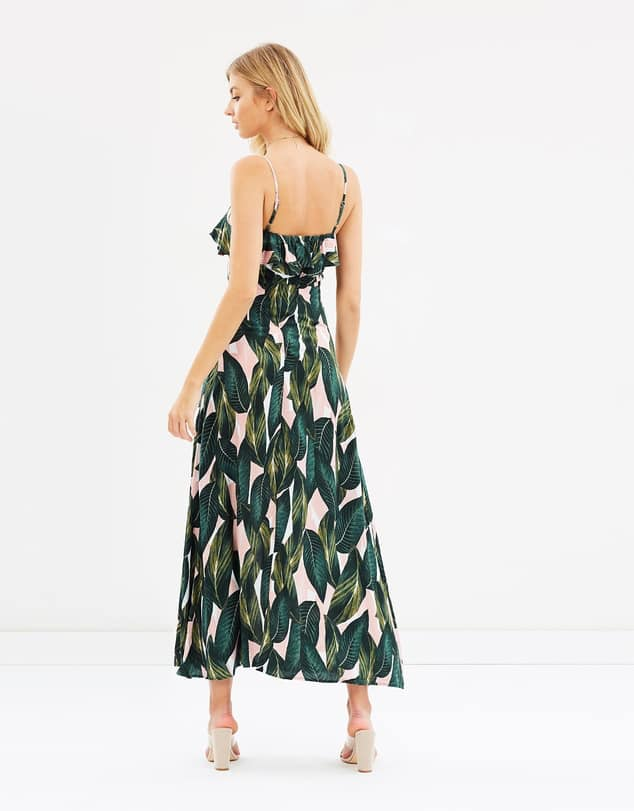 Savannah Leaf Print Maxi 2