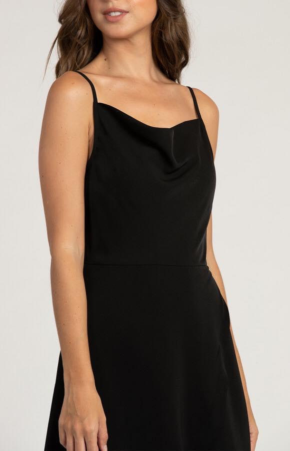 Avalon Cowl Neck Formal Dress half