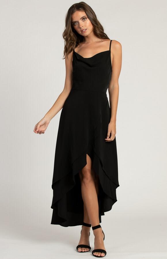 Avalon Cowl Neck Formal Dress front