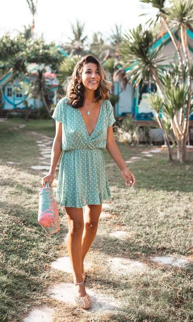 Havana Mini Dress Mint - San Jose The Label 2