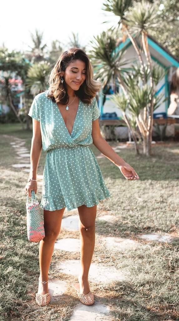 Havana Mini Dress Mint - San Jose The Label