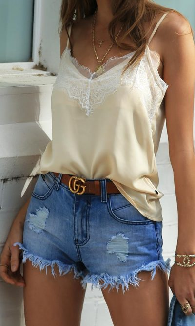 Cowboy Up Denim Short