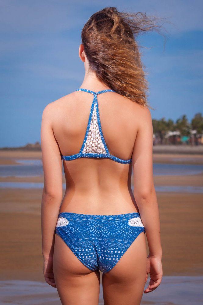 RUMBA Bikini With crochet sides - blue