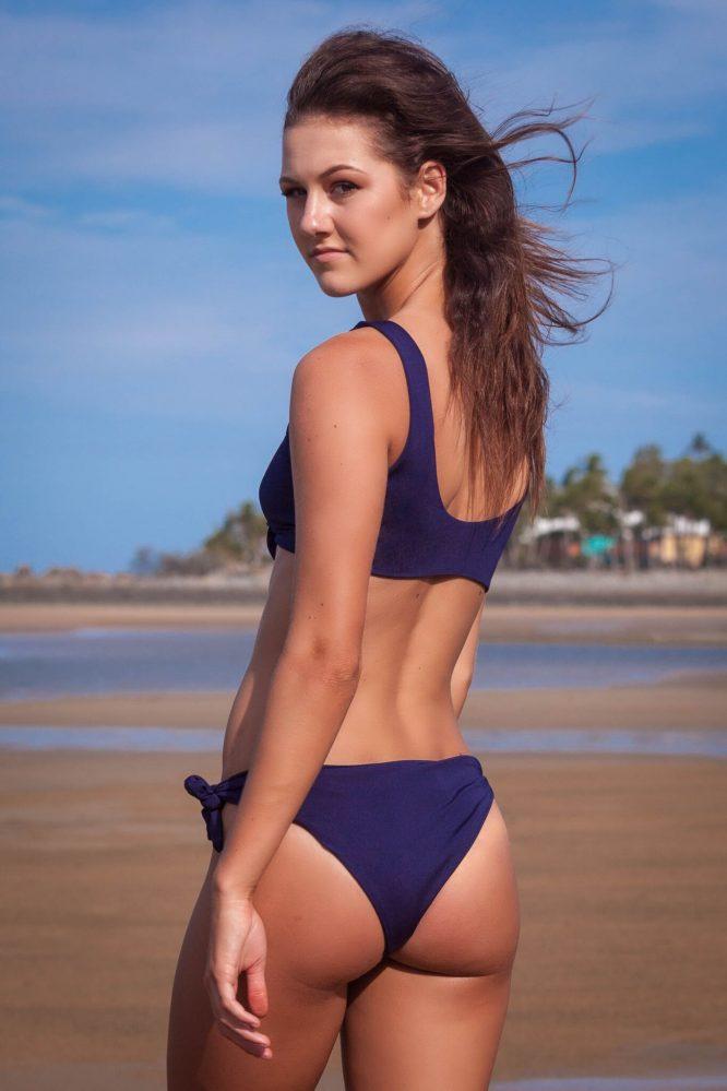 Lanai Tie Side Bikini - Navy Blue3