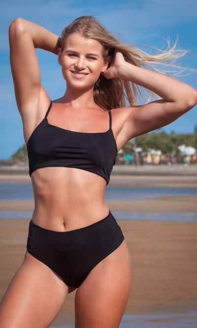 Kaiya Black 2 Piece Bikini Set