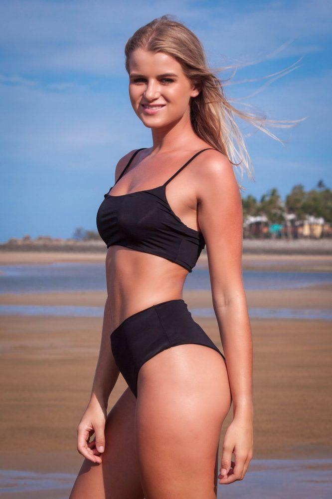 Kaiya Black 2 Piece Bikini Set sie
