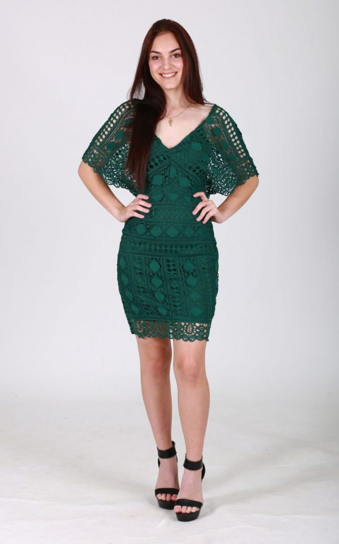 Jadie Lace Dress Front full