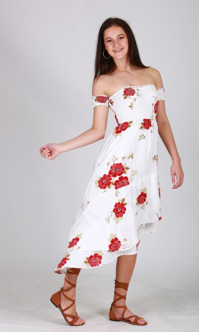 Rosette Dress White Floral main