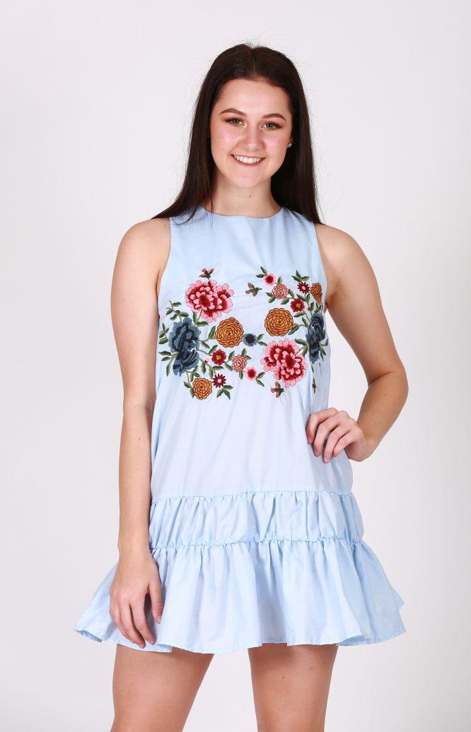 Spring Fling Cotton Dress dan front