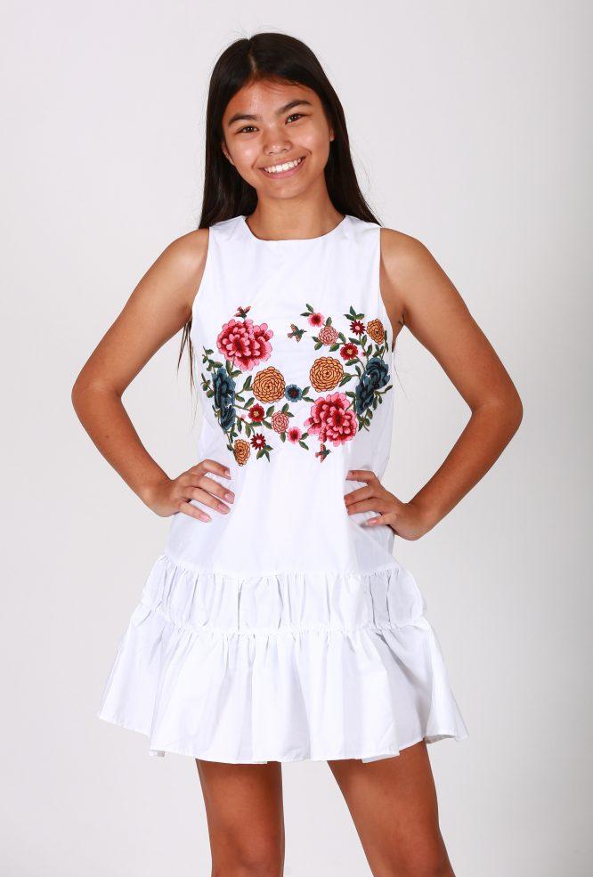 Spring Fling Cotton Dress nadia front