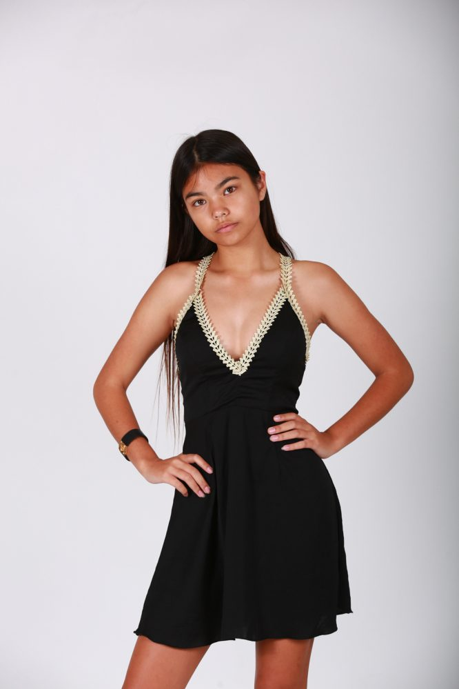 Fiesta Forever Dress - Black and Gold