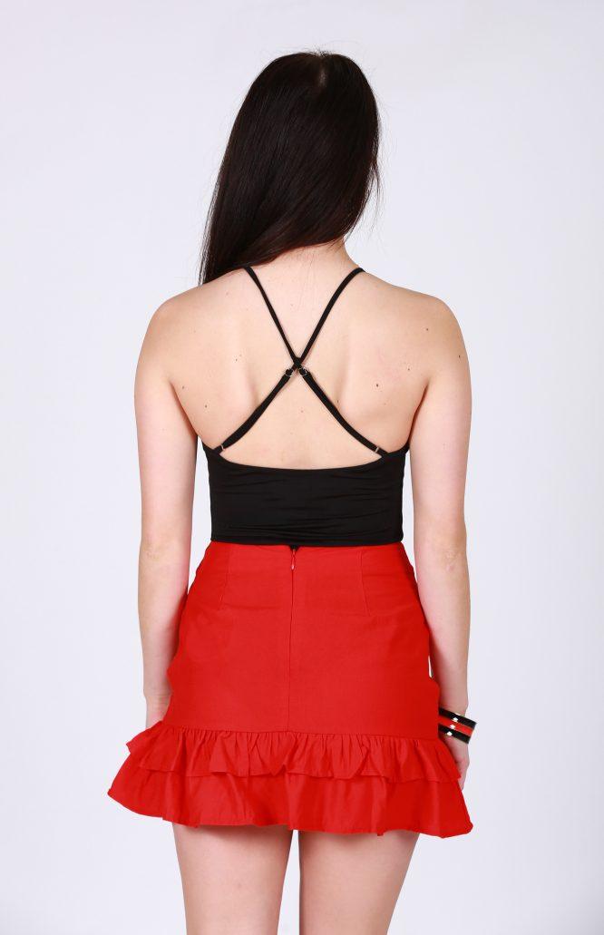 Kryptonite Red Mini Skirt back