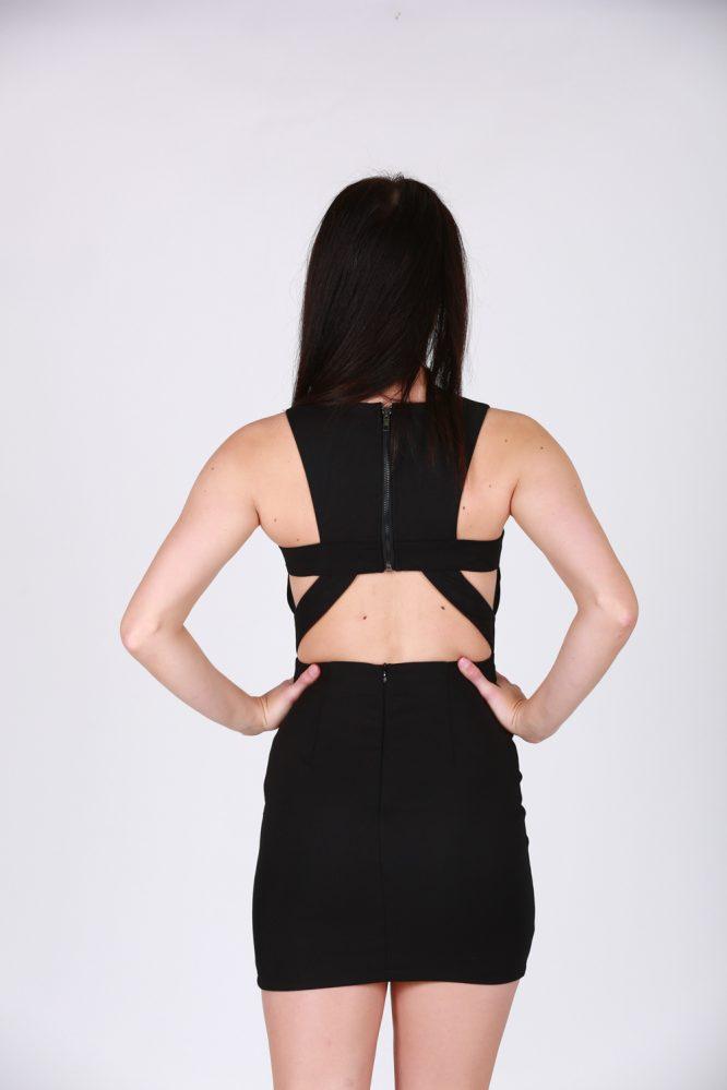 Ophelia Dress Black back