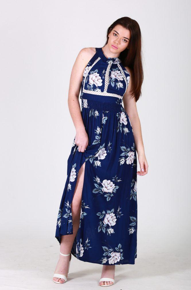 Nefeli maxi dress front blue