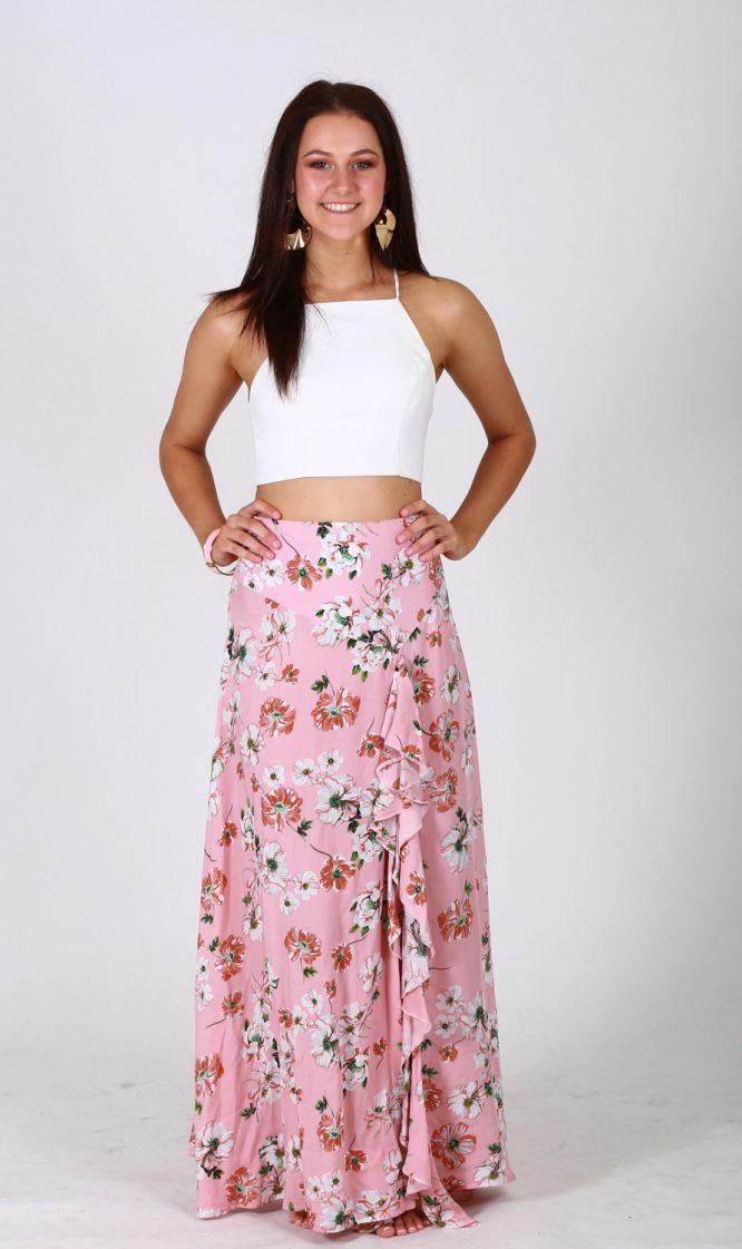Pink Blossom Skirt front