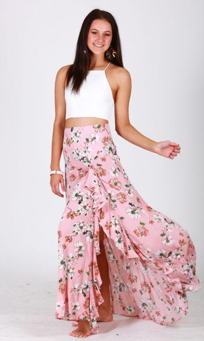 Pink Blossom Skirt side