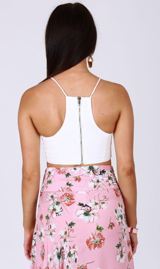 Pink Blossom Skirt back