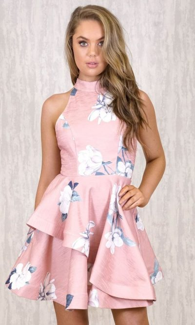Antique Ruffle Dress dusty pink