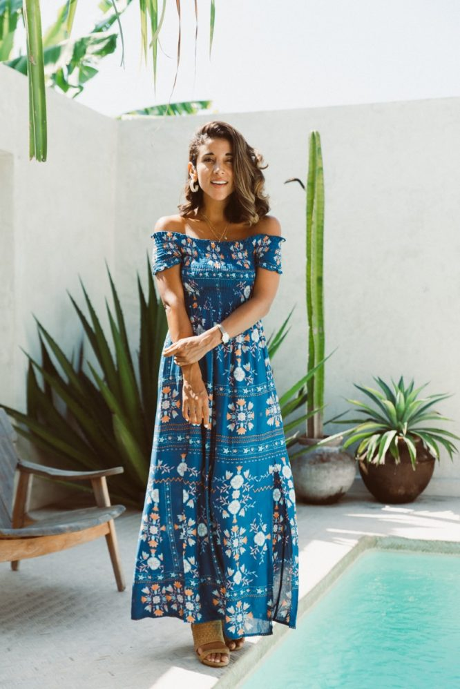 Morocco Ruched Maxi Dress