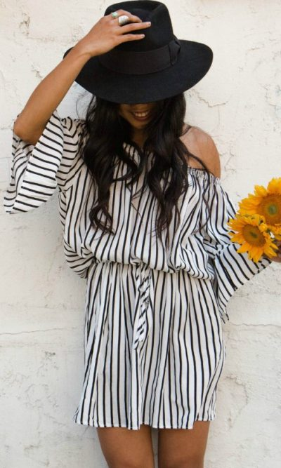 ST Tropez Stripe Mini dress front