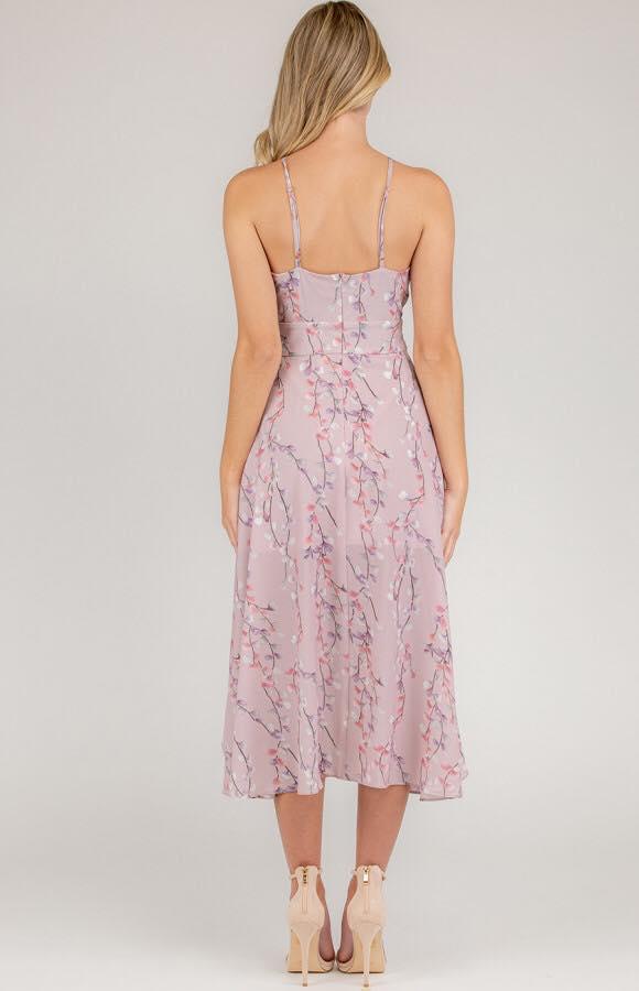 Cherry Blossom Spring Dress - Mauve bk