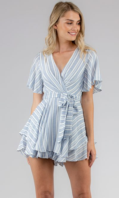 Claudia Striped Playsuit6