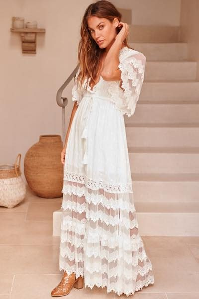 Bungalow White Maxi side