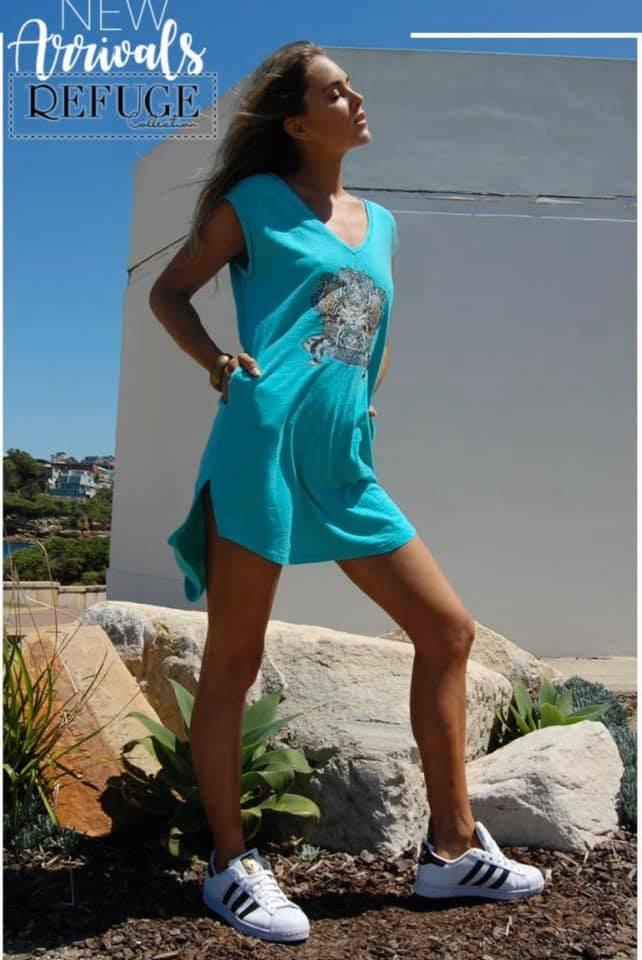 Shirley T-Shirt Dress - Refuge Denim