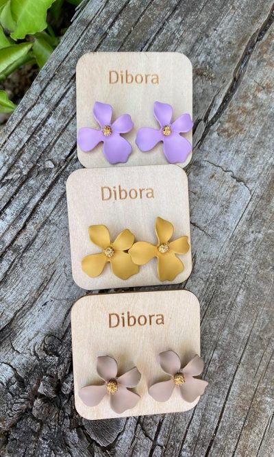 Flower Stud Earring - 3 Colours