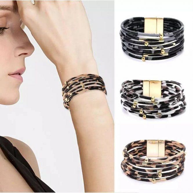 Leopard Print Magnetic Bracelets